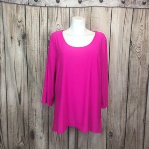 ABS Fitness Apparel Hot Pink Top Sheer Back XL
